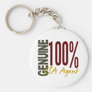 Genuine CIA Agent Basic Round Button Keychain