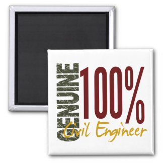 Genuine Civil Engineer 2 Inch Square Magnet