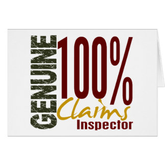 Genuine Claims Inspector Cards
