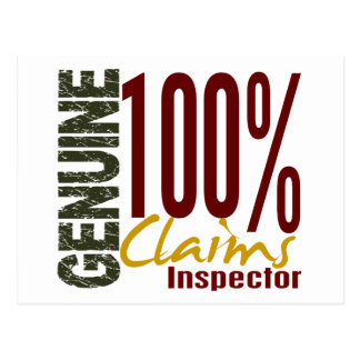 Genuine Claims Inspector Post Card