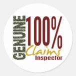 Genuine Claims Inspector Round Sticker