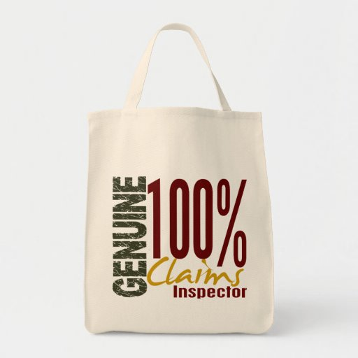 Genuine Claims Inspector Tote Bags