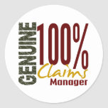 Genuine Claims Manager Round Sticker