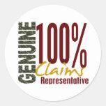 Genuine Claims Representative Sticker