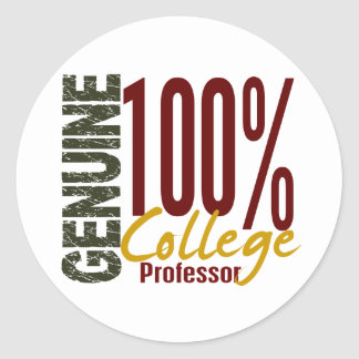 Genuine College Professor Round Sticker