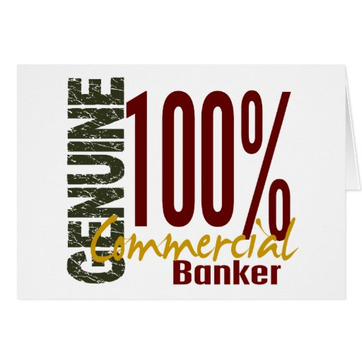 Genuine Commercial Banker Greeting Card