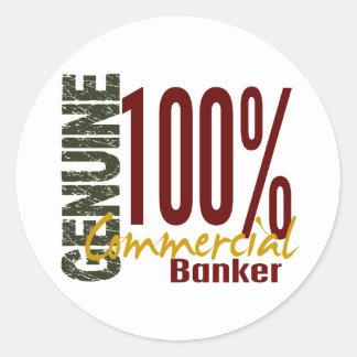 Genuine Commercial Banker Round Sticker