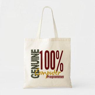 Genuine Computer Programmer Canvas Bags