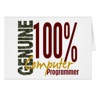 Genuine Computer Programmer Greeting Card