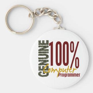 Genuine Computer Programmer Keychain