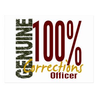 Genuine Corrections Officer Postcard
