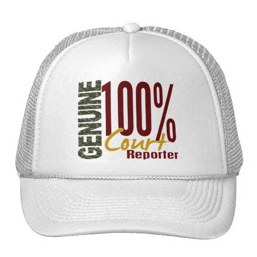 Genuine Court Reporter Trucker Hat