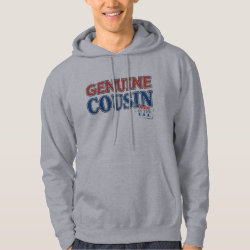Men's Basic Hooded Sweatshirt with Genuine Cousin - Made in the U.S.A. design