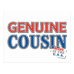 Postcard with Genuine Cousin - Made in the U.S.A. design