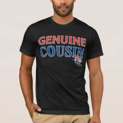 Men's Basic American Apparel T-Shirt with Genuine Cousin - Made in the U.S.A. design