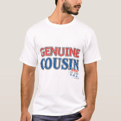 Men's Basic T-Shirt with Genuine Cousin - Made in the U.S.A. design