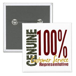 Genuine Customer Service Representative Pinback Button
