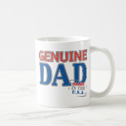 Classic White Mug with Genuine Dad USA design