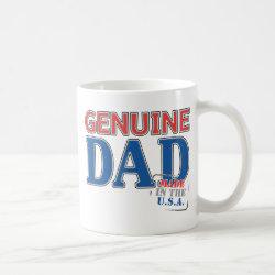 Classic White Mug with Genuine Dad USA design