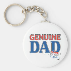Basic Button Keychain with Genuine Dad USA design