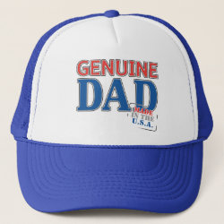 Trucker Hat with Genuine Dad USA design
