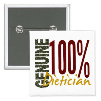 Genuine Dietician Pinback Buttons