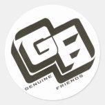 Genuine Friends Classic Round Sticker