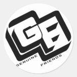 Genuine Friends Logo Classic Round Sticker