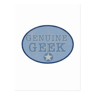 Genuine Geek Postcard