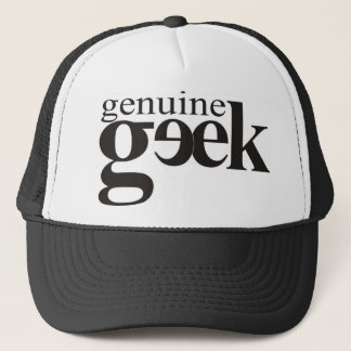 Genuine geek trucker hat