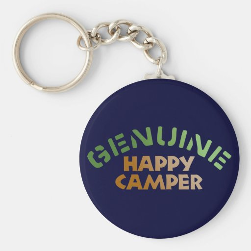 Genuine Happy Camper Keychain