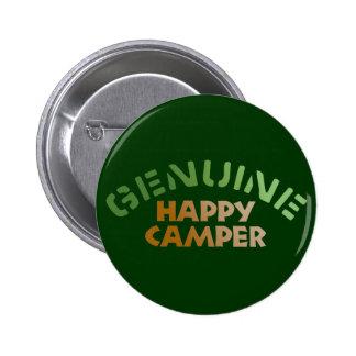 Genuine Happy Camper Pinback Button