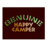 Genuine Happy Camper Postcard