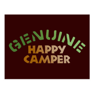 Genuine Happy Camper Postcards