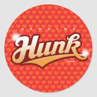 Genuine Hunk - sticker (bronze/hearts)