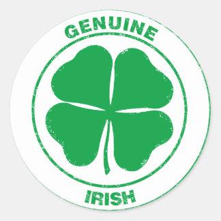 Genuine Irish Round Stickers