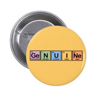 Genuine made of Elements 2 Inch Round Button