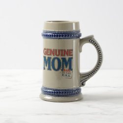 Stein with Genuine Mom USA design