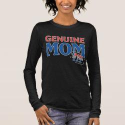 Women's Basic Long Sleeve T-Shirt with Genuine Mom USA design