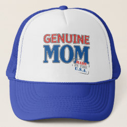 Trucker Hat with Genuine Mom USA design