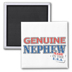 Square Magnet with Genuine Nephew USA design