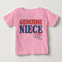 Baby Fine Jersey T-Shirt with Genuine Niece USA design