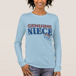 Women's Basic Long Sleeve T-Shirt with Genuine Niece USA design