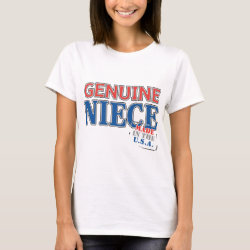 Women's Basic T-Shirt with Genuine Niece USA design