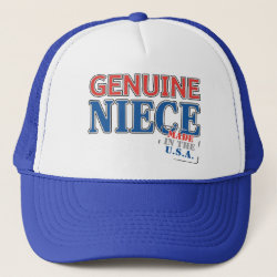 Trucker Hat with Genuine Niece USA design
