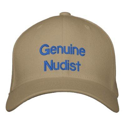 Genuine Nudist Embroidered Hat