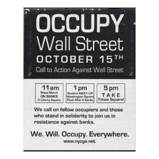 Genuine Occupy Wall Street Take Times Square Flyer Poster