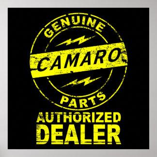 Genuine Parts Camaro Poster