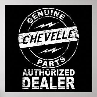 Genuine Parts Chevelle Poster