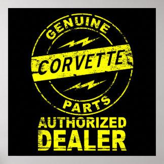 Genuine Parts Corvette Poster